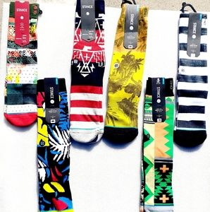 """🤙🤙STANCE SOCKS """"6PACK"""" NWT MIX AND MATCH🤙🤙🤙🤙"""